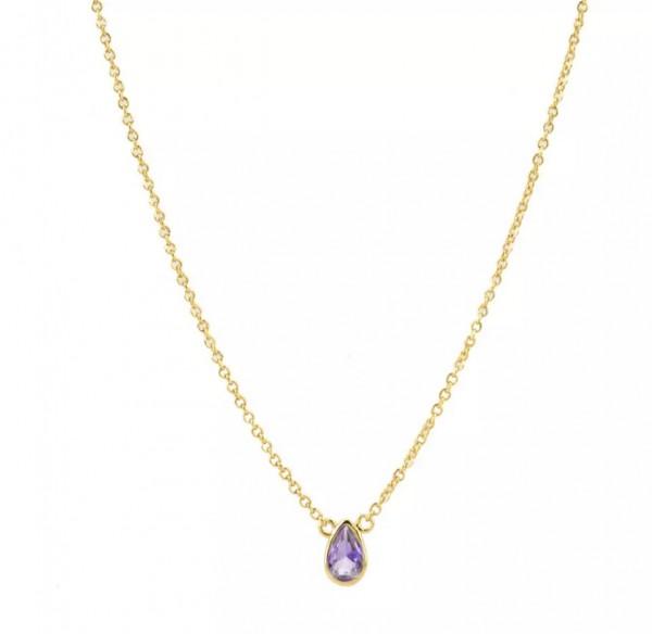 Tiny Tear Drop Necklace Gold