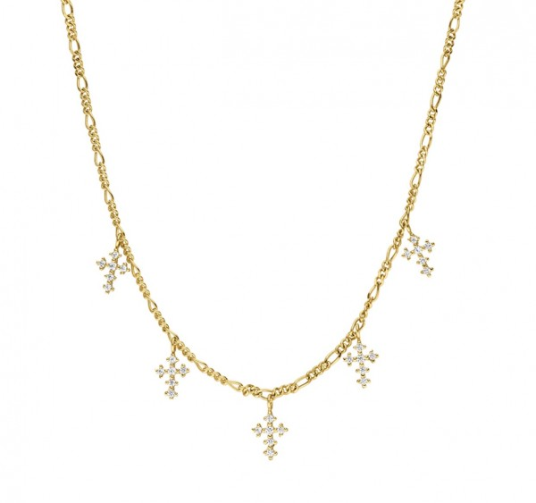 Tiny Cross Charms Necklace