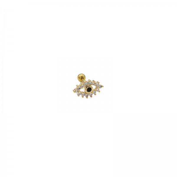 Evil Eye Big Piercing Gold