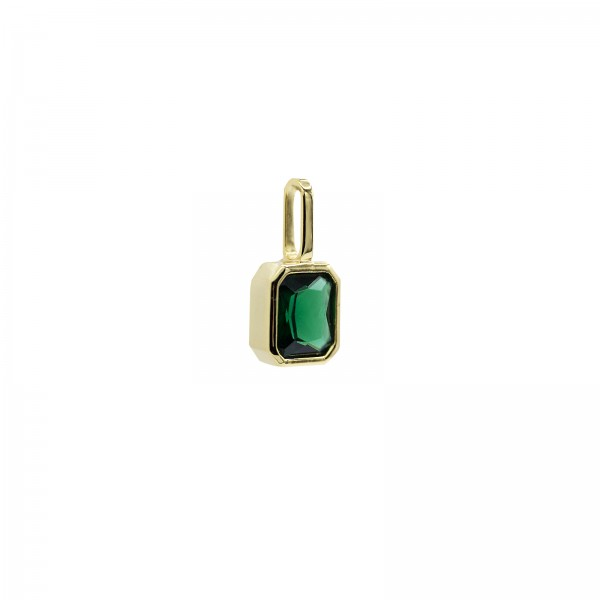 Octagon Charm Green