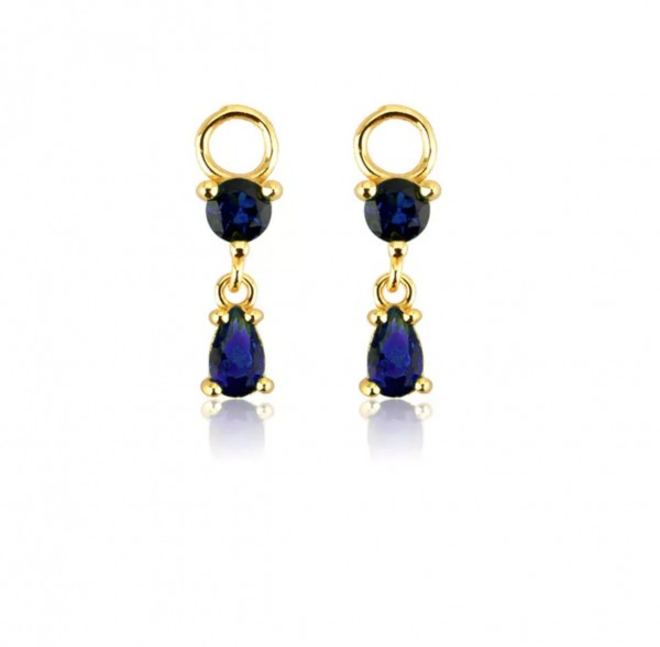 Tear Drop Charm Blue