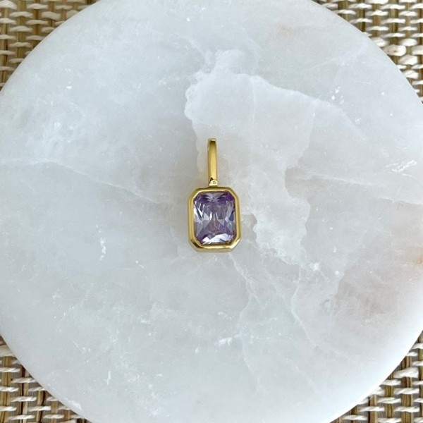 Octagon Charm Lavender